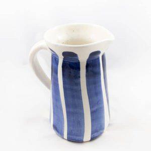 Comprar jarra de agua rayas azul