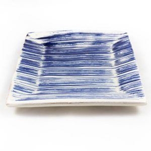 Comprar plato cuadrado azul